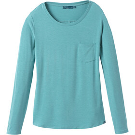 Prana Foundation Top manga larga cuello redondo Mujer, azurite heather